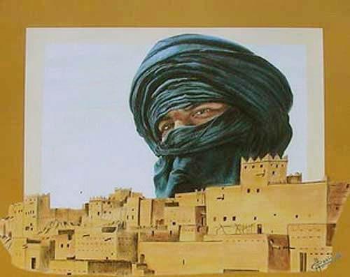 Tuareg, Wüstenstadt Poster