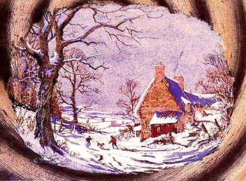 Winter von Vokes Aludruck 16x21 cm
