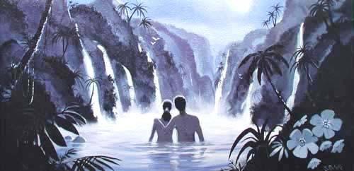 Moonlit Lagoon by R. Rochelle