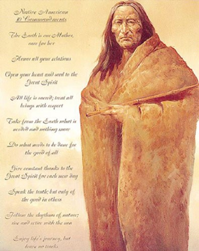 Native American 10 Commandments