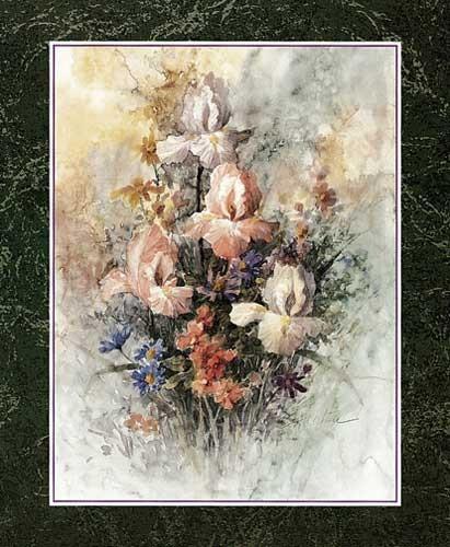 Schwertlilien von Chiu Kunstdruck
