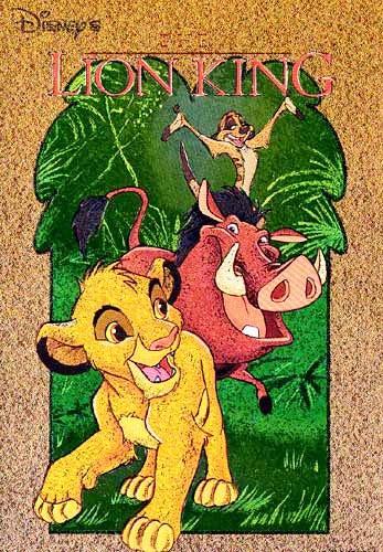 König der Löwen, braun Postkarte