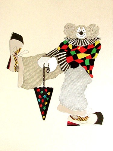 Clown mit Regenschirm Bild