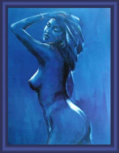 Akt in Blau II