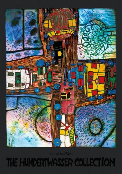 Strassenkreuzung Kunstdruck von Hundertwasser