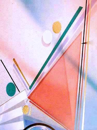 Abstraktes Bild in Orange und Blau