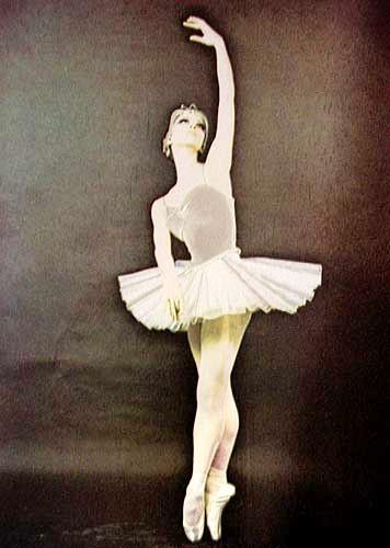 Ballerina Aluminium Druck 16x21, Einzelstück