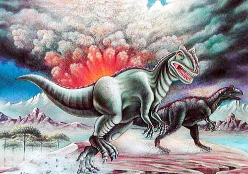 Allosaurus von Zamani Postkarte