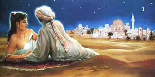 Liebespaar 1001 Nacht Tuareg Bild