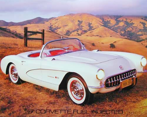 Corvette 1957 Fuel Injected by Brad Wagner