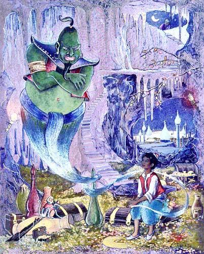 Aladdin und Flaschengeist by Jean & Ron Henry