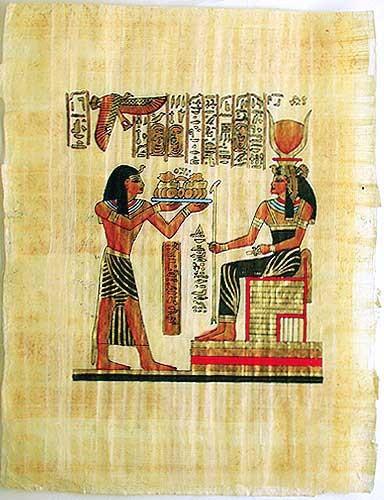 Die Göttin Hathor, Papyrusbild