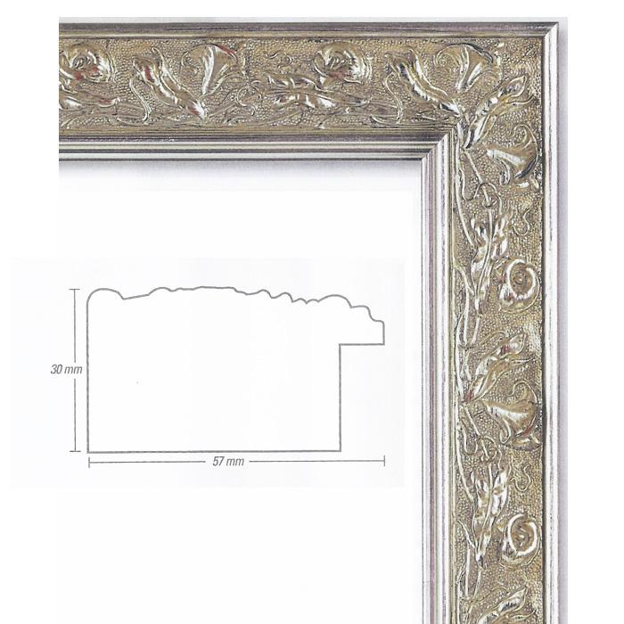 Holzrahmen/ Stilrahmen 50x60 Profilbreite 5,7 cm in Silber antik
