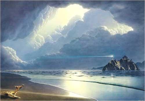 Kunstdruck 70x100 cm: Vor dem Sturm von Sahm Hans-Werner
