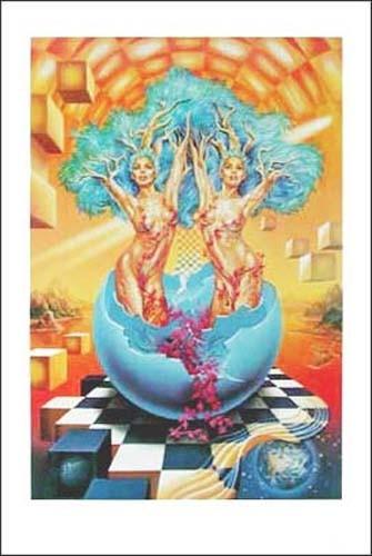 Sternzeichen Zwillinge von Enrique Nieto - Kunstdruck Poster 30,5 x 44 cm