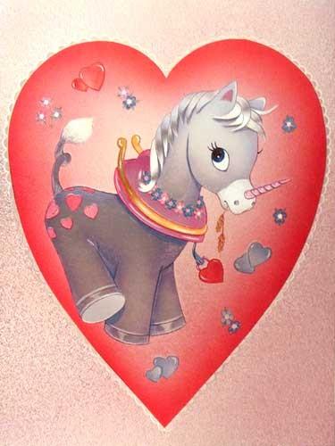 Einhorn im Herz Postkarte