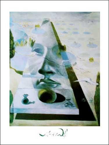 Apparition of the Face of Aphrodite, Salvador Dali - Kunstdruck 70 x 50 cm