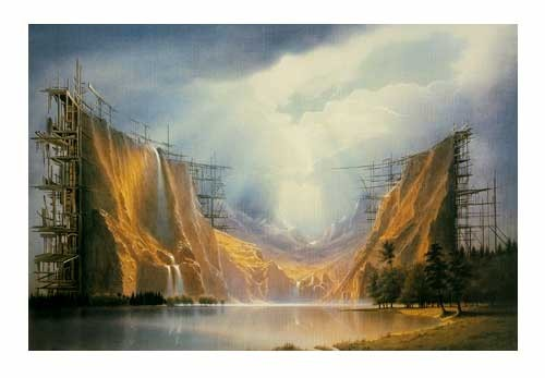 Bergkulisse Kunstdruck 70x100 cm vom Sahm