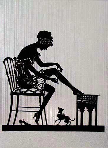 Dame auf dem Stuhl