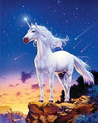 Unicorn Comets Bild mit 3D Effekt