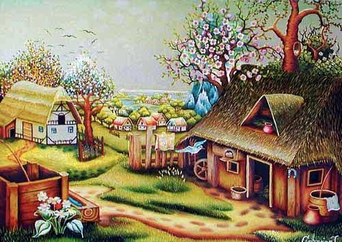 Frühling, Cenkovcan- Postkarte