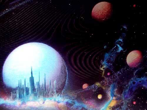 Raumstation Alu Bild