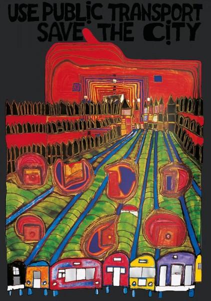 Safe the City Hundertwasser Poster
