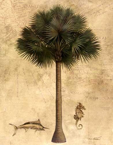 Exotische Palme Kunstdruck 40x50 cm