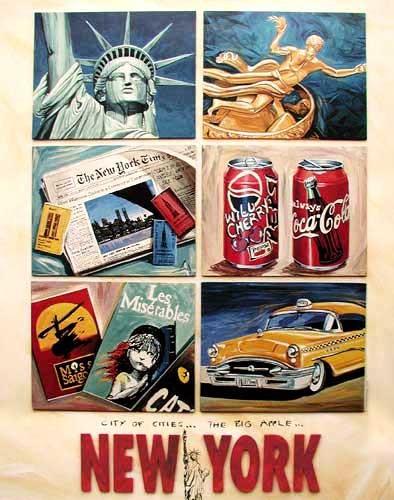 New York Collage von Huber Poster