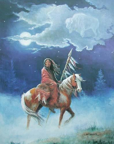 Indianer und Buffalogeist by M.Caroselli