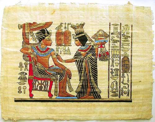 Tutanchamun und Anchesenamun Papyrus