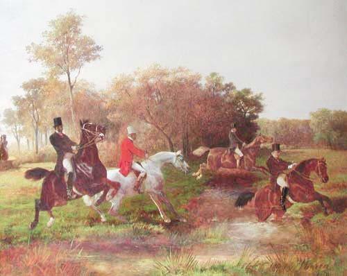 The Steeplechase by Otto van Thoren 1828- 1889