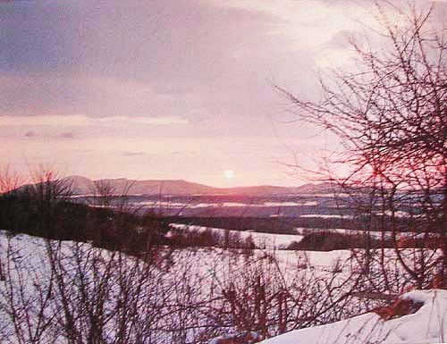 Winter Sunset, Connecticut