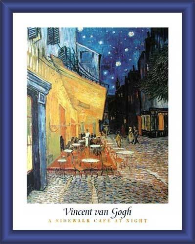 Wandbild Cafe at Night 60x80 cm
