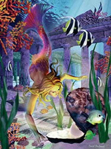 Die Meerjungfrau-Lagune Alu Bild