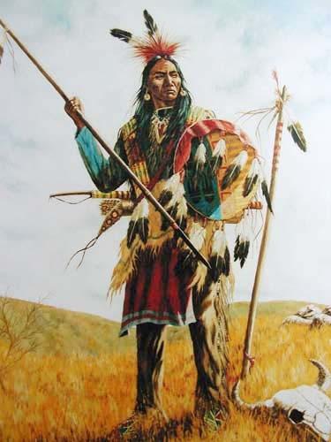Indian and Buffalo Skull