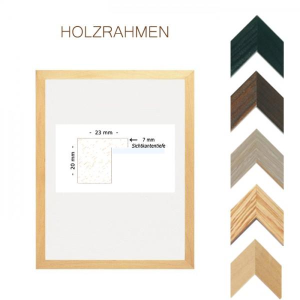 Holzrahmen 18x24 mit Normalglas