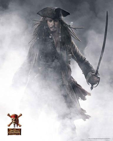 Johnny Depp, Fluch der Karibik 3- Poster
