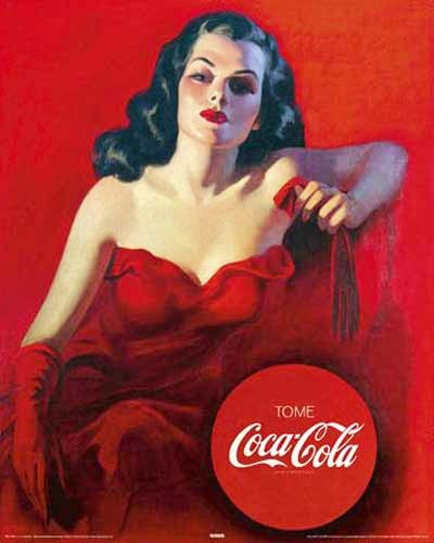 Coca-Cola, red dress