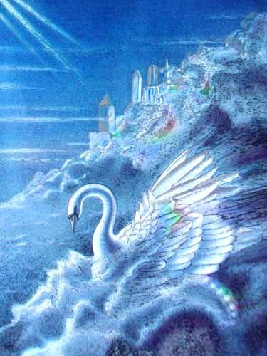 Crystal Swan by Sue Dawe