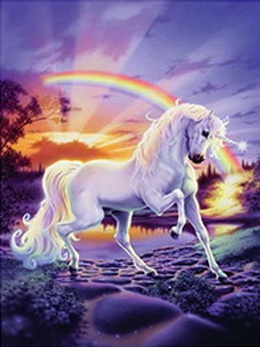 Regenbogen Einhorn Effekt Bild