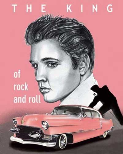 The King of Rock and Roll - Elvis Poster