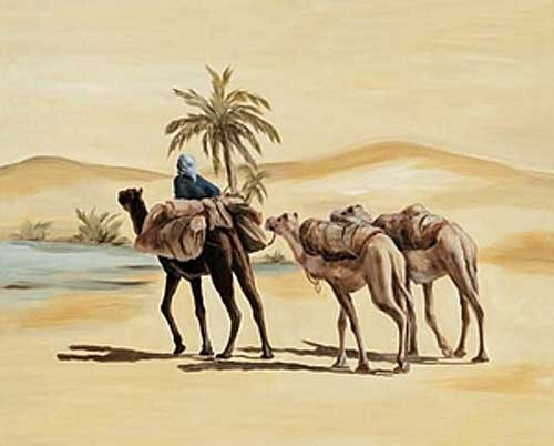 Beduin mit Kamelen Poster
