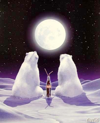 Coca-Cola Bears, Moon *