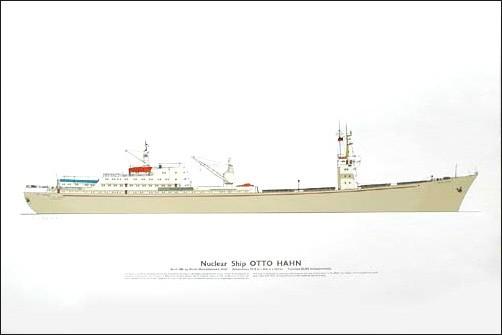 Nuclearschiff Otto Hahn Druck