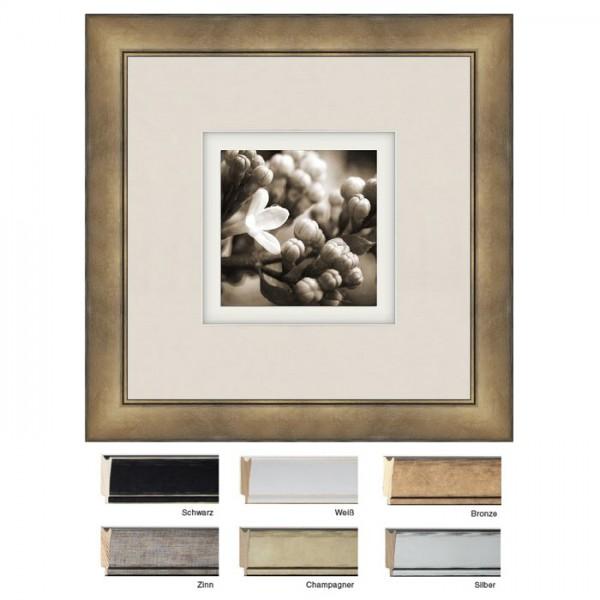 Holzrahmen 50x50 Silber, Weiß, Schwarz