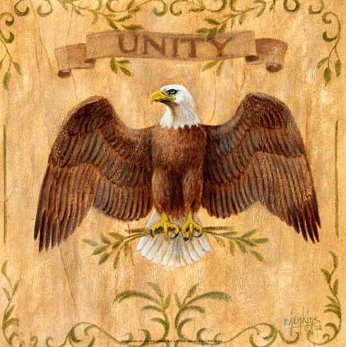 Adler mit ausgebreiteten Flügeln