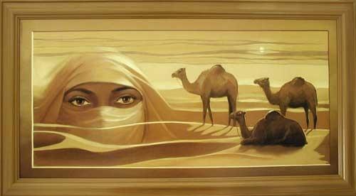 Wüstentraum, Tuareg Wandbild