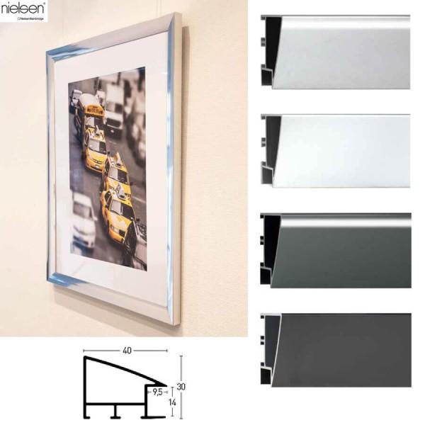 Aluminium Bilderrahmen 90x90, Nielsen Profil Nr. 260