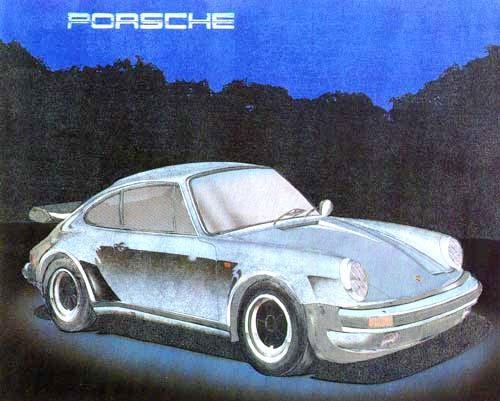Porsche silber